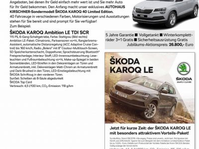 Skoda Karoq 40 Limited Edition